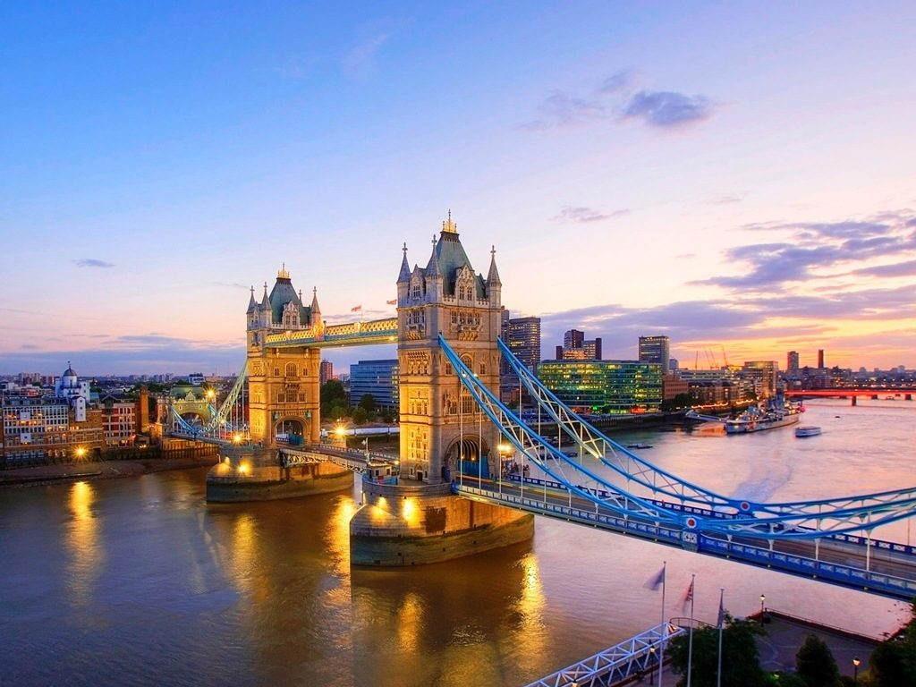 River Thames and Tower Bridge at Dusk, London, England - 2016 Travel Tips United Kingdom