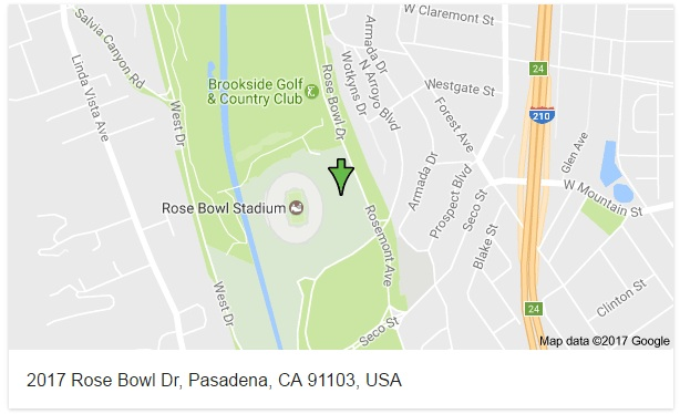 2017 Rose Bowl Dr Pasadena CA 91103 USA - Map