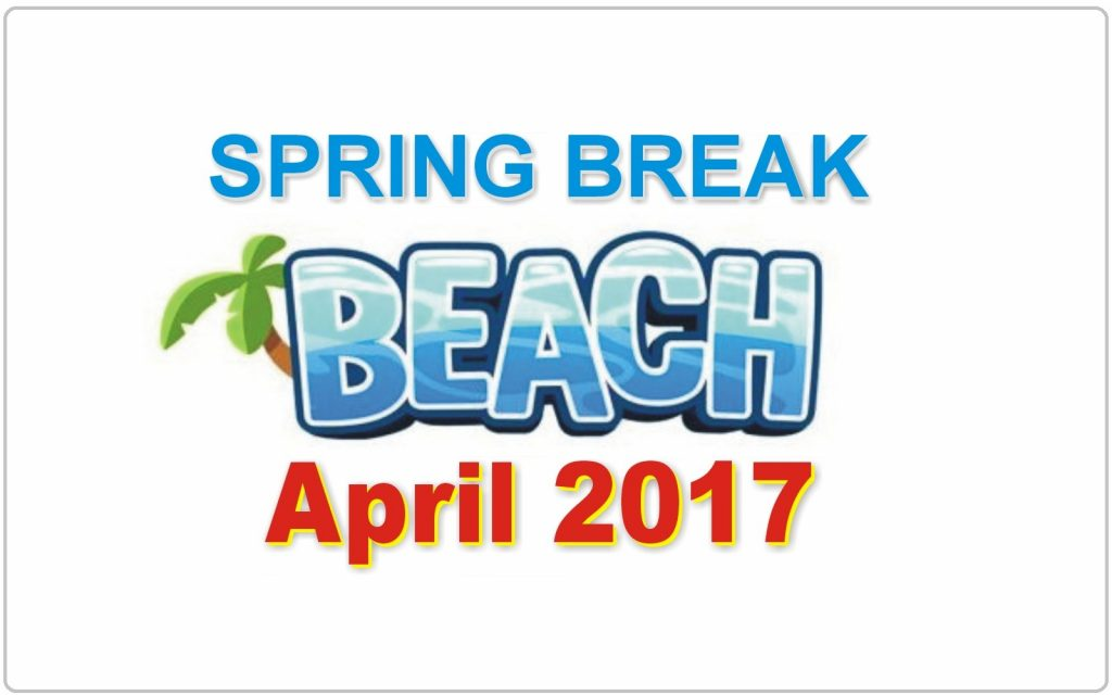 Spring Break Dates April 2017