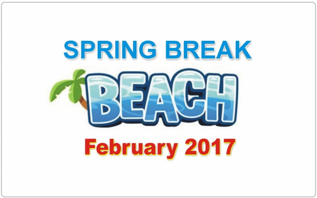 Spring Break Dates February 2017