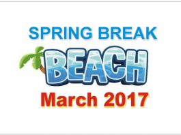 Spring Break Dates March 2017