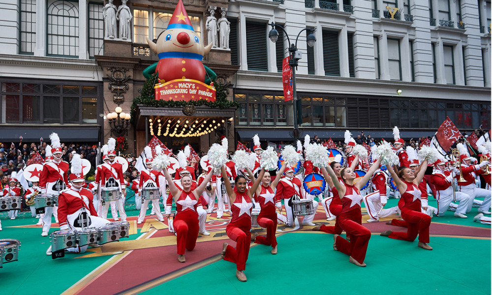 macy's parade-band thanksgiving